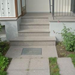 Granit Tiago 3 D Sichtschutz Gelb 10 x 50 cm