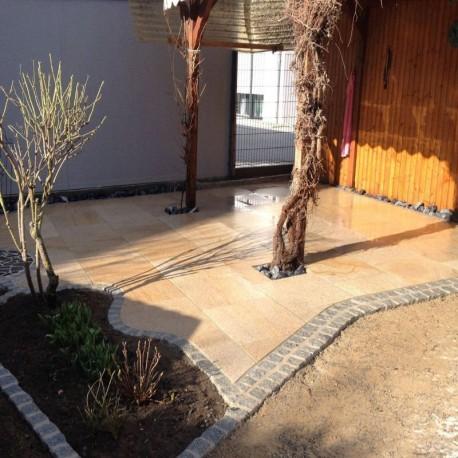 Limes Granit Pfosten Tiago Gelb 15 x 15 cm