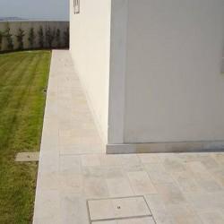 Granit Blockstufen Anthrazit 18 x 40 cm 200 cm lang
