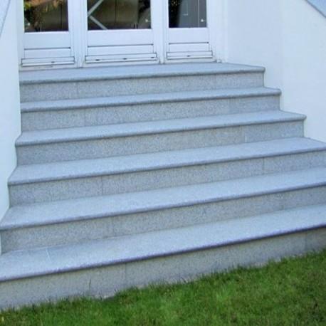 Granit-Pflaster Gran Fino Weiß gespalten 15 x 17 cm