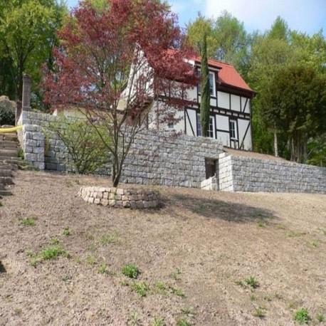 Granit-Blockstufen Griys Hellgrau 15 x 40 cm