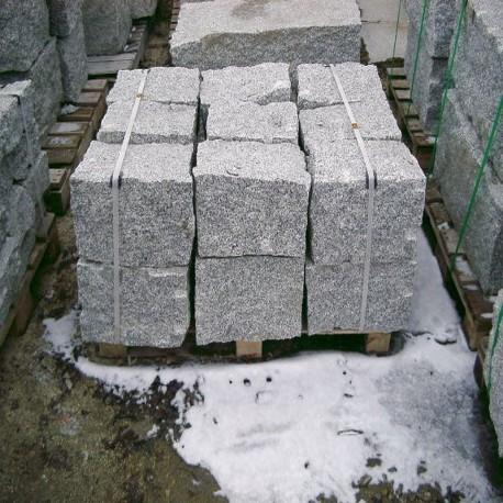 Granit-Blockstufen Griys Hellgrau 15 x 40 cm 100 cm lang