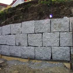 Sandstein-Blockstufen Geltona Gelb-Weiß 15 x 35 100 cm lang