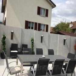 Granit Quader Griys Hellgrau 40 cm hoch