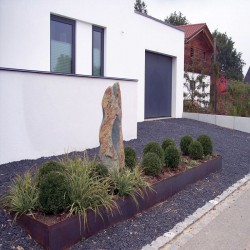 Granit Kyrill Pflaster Steine grau Größe 15 x 17 cm