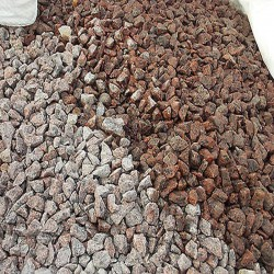 Granit Schotter Raudona Rot lose 16 - 32 mm