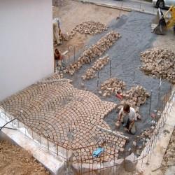 Sandstein Blockstufen Gelb 15 x 35 cm 100 cm lang