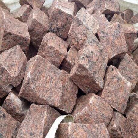 Granit Blockstufen hellgrau 18 x 35 cm