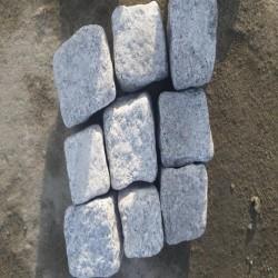 Granit Palisaden Griys Hellgrau 8 x 20 cm geflammt