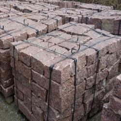 Granit Palisaden Griys Hellgrau 10 x 25 cm 100 cm lang
