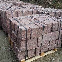 Granit-Blockstufen Griys Hellgrau 20 x 45 cm