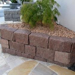 Granit Griys Sichtschutz Hellgrau 10 x 50 cm 100 cm lang