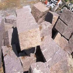 Granit Palisaden Tiago Gelb Sandgestrahlt 50 cm lang
