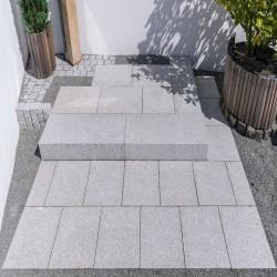 Granit Mauersteine Adrian Black Schwarz 20 cm hoch