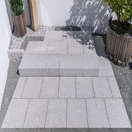 Granit-Mauersteine Adrian Black Schwarz 20 cm hoch
