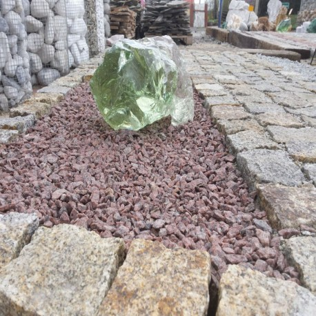 Granit Schotter Raudona Rot in Big Bag
