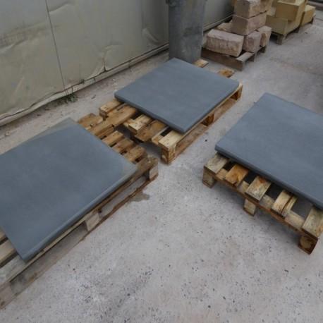 Granit Terrassen Platten Elena weiß 3 cm geflammt 60 x 40 cm