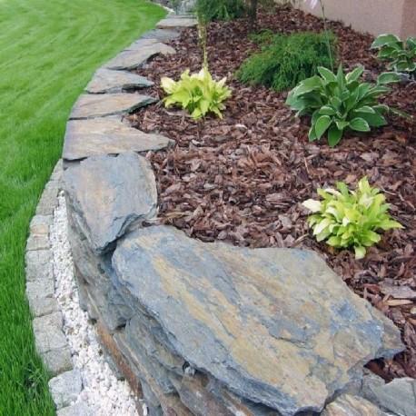 Granit Pflaster Platten Elena Weißgrau 16 cm geflammt