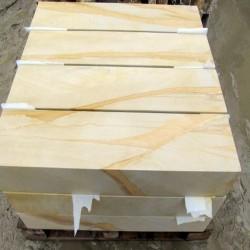 Granit Blockstufen Elena Weißgrau 15 x 35 cm geflammt