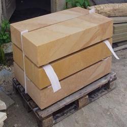 Granit Podestplatten Tiago Gelb 15 cm stark