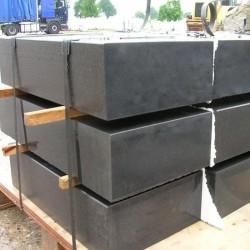 Granit Blockstufen Elena Weißgrau 15 x 45 cm geflammt 200 cm lang