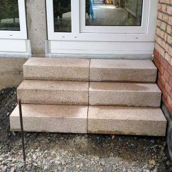 Granit Blockstufen Tiago Hellgelb 15 x 35 cm gestrahlt 80 cm lang