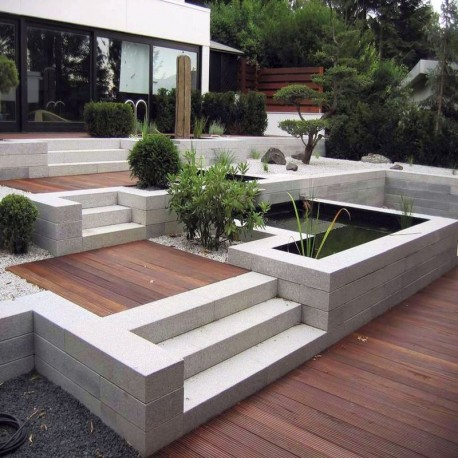 Granit Terrassen Platten Rot 3 cm 60 x 40 cm geflammt