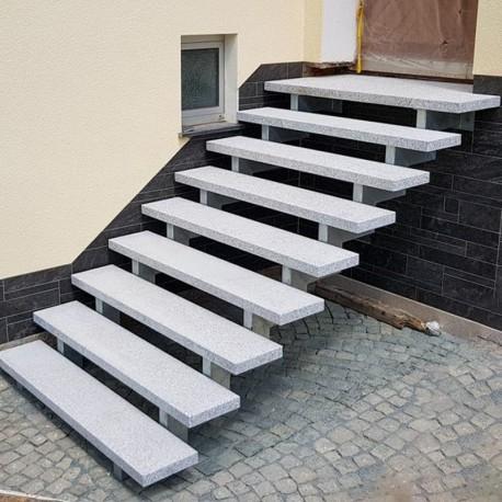 Granit Podestplatten Alvaro Anthrazit 100 x 100 cm 15 cm stark