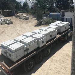 Granit Podestplatten Alvaro Anthrazit 150 x 150 cm 15 cm stark