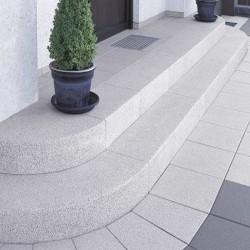 100 cm lange Granit Hellgrau Sichtschutz / Zaun Elemente 10 x 50 cm