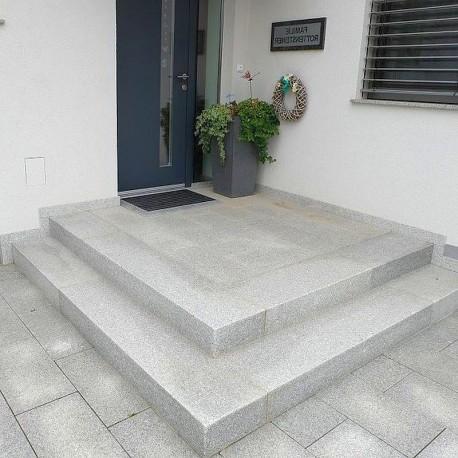150 cm lange Granit Hellgrau Sichtschutz / Zaun Elemente 10 x 50 cm