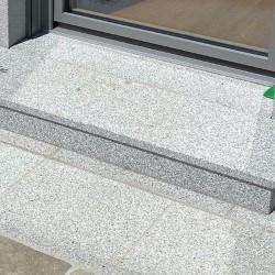 Granit-Mauersteine Gryis Hellgrau 20 cm hoch