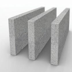Granit-Mauersteine Griys Hellgrau 25 cm hoch