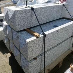 Granit-Mauersteine Griys Hellgrau 10 cm hoch