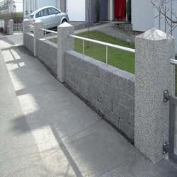 Granit Palisaden Elena Weiß 8 x 20 cm