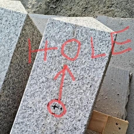 Granit Palisaden Laahs Rot 8 x 25 cm geflammt