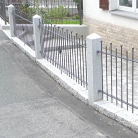 Granit Palisaden Alvaro Dunkelgrau 10 x 25 cm 200 cm lang