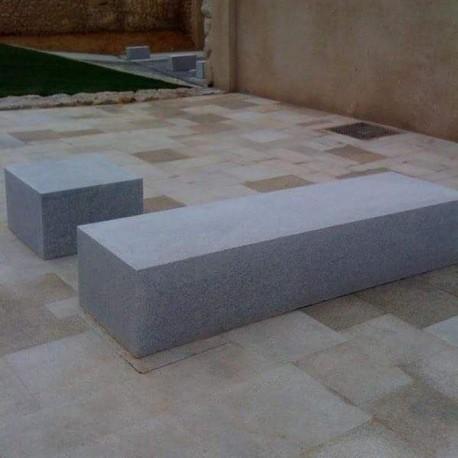 Granit Alvaro Sichtschutz Dunkelgrau 10 x 50 cm 100 cm lang