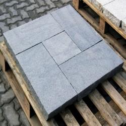 Granit Sichtschutz Alvaro Dunkelgrau 10 x 100 cm