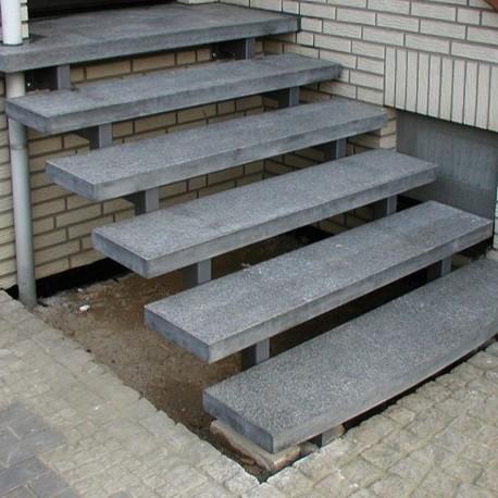 Sitz Blöcke Kalkstein Weiß sandgestrahlt 45 x 45 x 90 cm