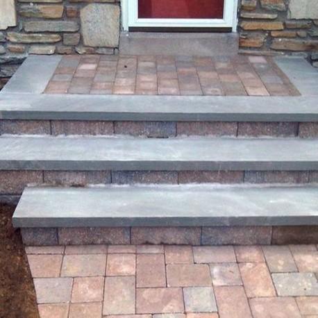 Sitz Blöcke Kalkstein Weiß sandgestrahlt 150 x 50 x 50 cm
