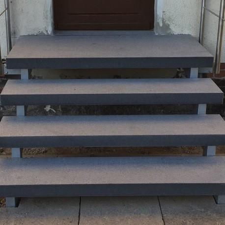 Granit Pfosten hellgelb 20 x 20 cm 150 cm lang
