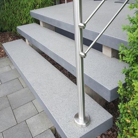 Granit Pfosten hellgelb 20 x 20 cm 300 cm lang