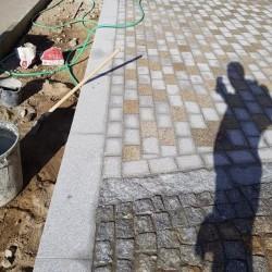 Basalt Palisaden Schwarz 8 x 20 cm
