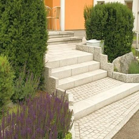 Basalt Pflaster Platten schwarz 6 cm geflammt