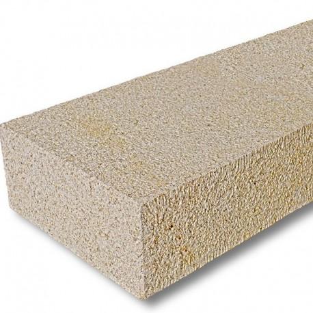 Basalt Blockstufen Schwarz geflammt 18 x 35 cm