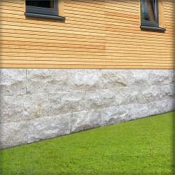 Granit Bordstein Griys hellgrau 8 x 25 cm